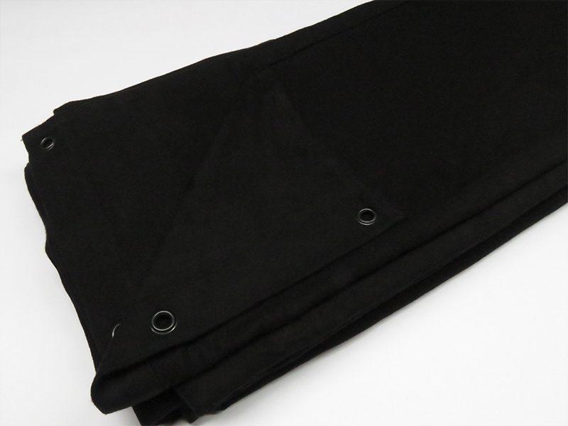 Cortinas Ignífugas negras de Molton 320gr