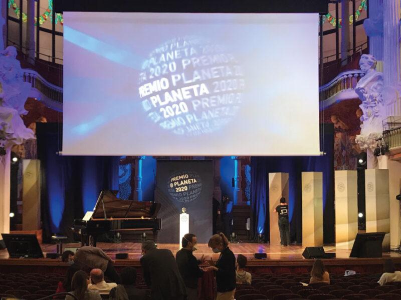 Backdrop palau de la musica Planeta FrameWalls columna